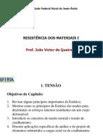 Resistencia Dos Materiais i - Prof João Victor - Tensão