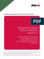 Manual Metodo CoPsoQ PSQCAT v2 Version Corta