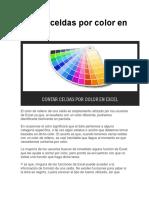Contar Celdas Por Color en Excel
