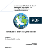 Introduccion a La Consejeria Cristiana Uno
