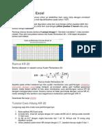 KR 20 Dengan Excel