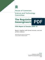 UK Regulation of Geoengineering Report