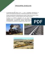 Ferrocarril en Bolivia