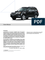 Subaru Forester Manuals 2013 Forester Owner Manual