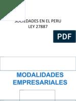 Sociedades en El Peru