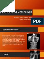 Ejercicios Para Escoliosis
