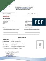 Formulir Pendaftaran Film Pendek