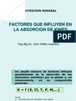 FACTORES  ABSORCION
