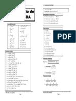Formulario Algebra - Aritmetica