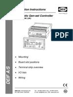 Deif Installation Manual - Genset