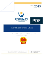 Intercambio Comercial Uruguay China Mayo 2013