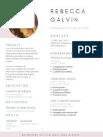 rebecca galvin - resume