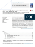 The Effect of Bioenergy Expansion Food, Energy, And Environment