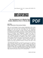 The Development of a Muslim Enclave in Arakan (Rakhine) State of Burma (Myanmar)