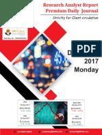 Derivative Premium Daily Journal-4th Dec 2017, Monday