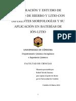 Preparacion de LiFeFO4