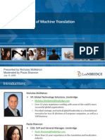 ROI and the Value of Machine Translation