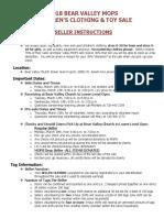 2018 seller instructions