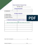 Software Installation Request Form