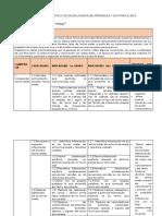 Matrices para el ciclo segun las rutas de aprendizaje y de conocimientos para el 2015 Final