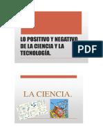 Positivo y Negativo de La Ciencia