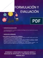 Formulación y Evaluación