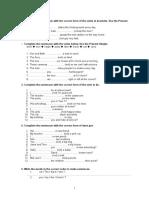 1.Repaso Tiempos Verbales Para Refuerzo Ingles 1 Eso 2 Eso, Pcpi y 4 Diversificación