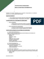 Clases 28, 29, 30, 31, 32 Inventarios IOP