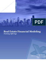 Real Estate Financial Modeling Training Brochure