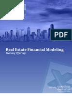 Real Estate Financial Modeling Training Brochure