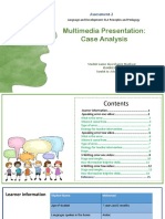 multimedia presentation case analysis