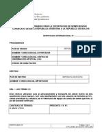 Requisitos Sanitarios Para Importacion de Semen Bovino de Argentina