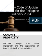 The New Code of Judicial Conduct for the Phil Judiciary 2004