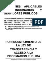 Sanciones Aplicables a Funcionarios y Servidores Publicos