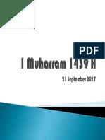 1 Muharram 1439 H