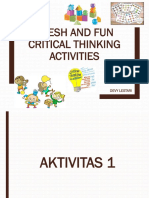 Fresh and Fun Critical Thinking Activities