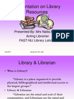 Presentation on Library Resources