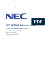 NEC SV8100 System Admin Guide.docx