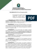 RECOMENDACAO++Concurso+Publico+SURDOS+CAN+205-09+E+238-09(2)