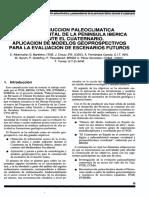 Reconstrucción Paleoclimática y Paleoambiental