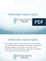 Interview Transcriptie - Transcriptie Online
