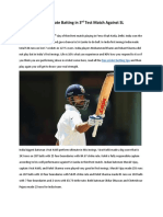 Kohli Perform Ultimate Batting in 3rd Test Match Against SL