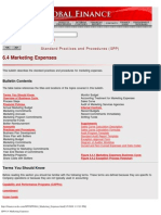 SPP 6.4 Marketing Expenses