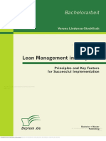 Lean Management in Hospitals Principles and Key Factors for Successful Implementation