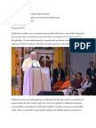 Discursul Papei Francisc La Intalnirea Interreligioasa din Bangladesh