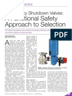 Emergency Shutdown Valves - A Functional Safety Approach to Selection