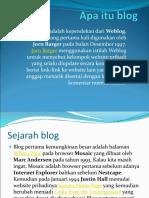 Blog Adalah