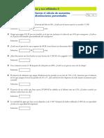 Ficha Aumentos y Disminuciones Porcentuales