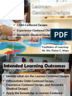 Learner Centered Design
