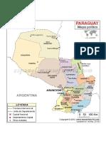 Mapa Politico Del Paraguay